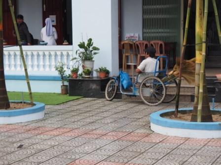 fauteuil-vélo à Lavang au Vietnam