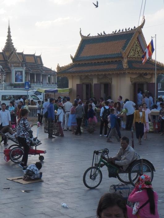 Fauteuil-vélo à Phnom-Penh au Cambodge